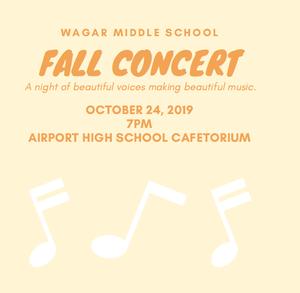 Wagar Choir Concert 10.24.19 7:00 pm AHS Cafe