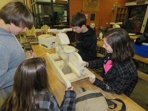 Students spent hours building the toys and even more hours sanding them to perfection!