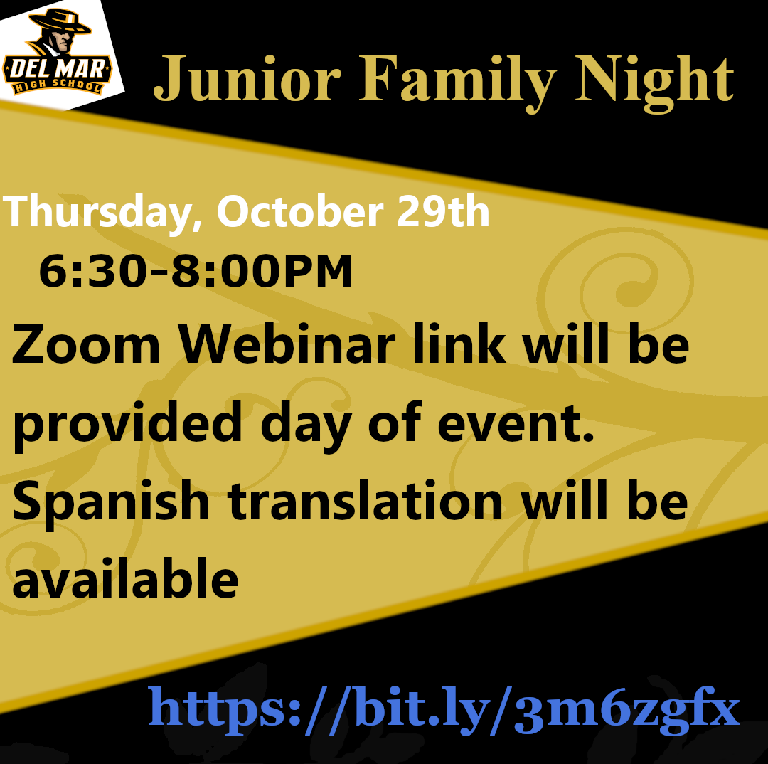 flyer for junior family night on october 29 at 6:30pm