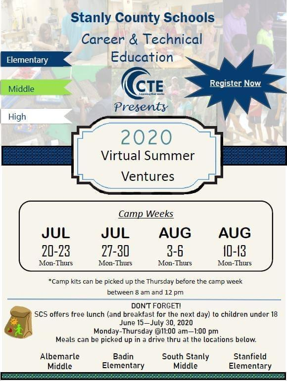 CTE Virtual Summer Camps Featured Photo