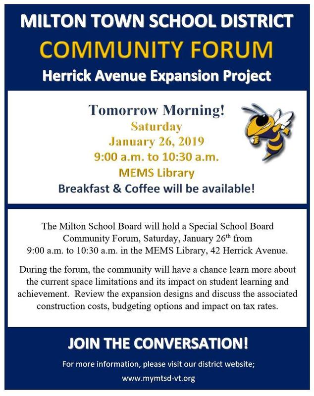 Information about the Jan. 26th Community Forum