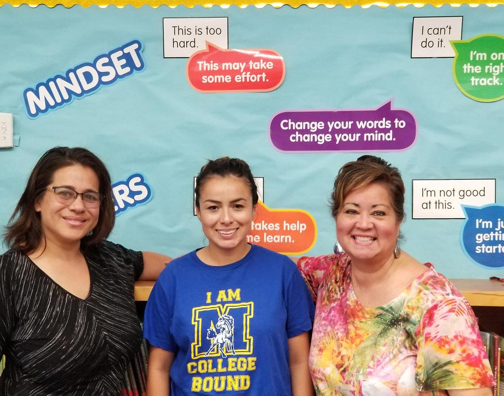 Enrichment Teachers: Mrs. Gavis Library, Mrs. Gutierrez ELD & Literacy and Mrs. Hernandez Visual Arts