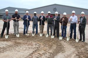 Photo of groundbreaking at new high school CTE facility