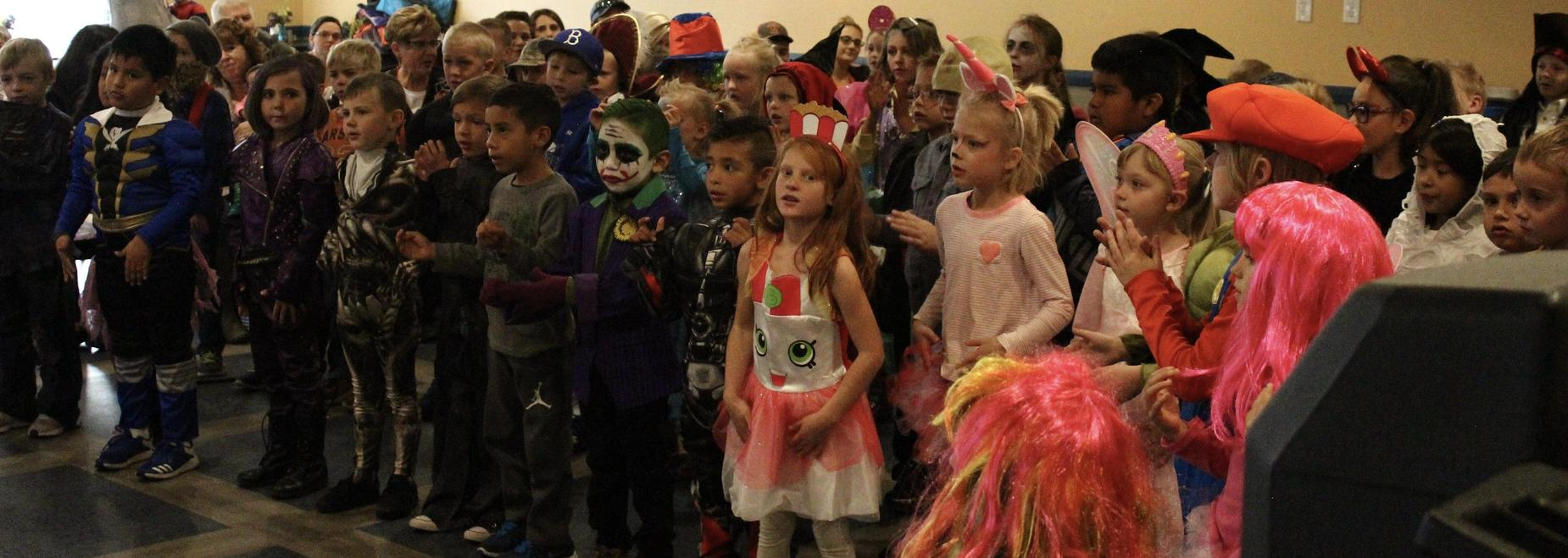 1st Grade singing spooky fun songs at the Rocky Mountain Care Facility