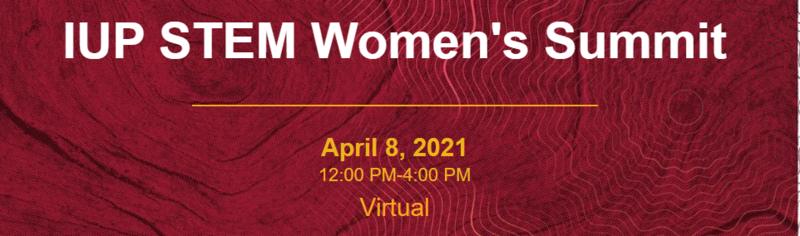IUP STEM Women's Summit logo