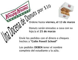 Krispy Kreme Fundraiser Flyer Spanish