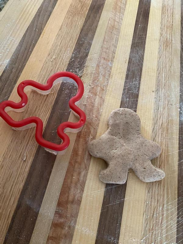 Gingerbread man cookie and cutout