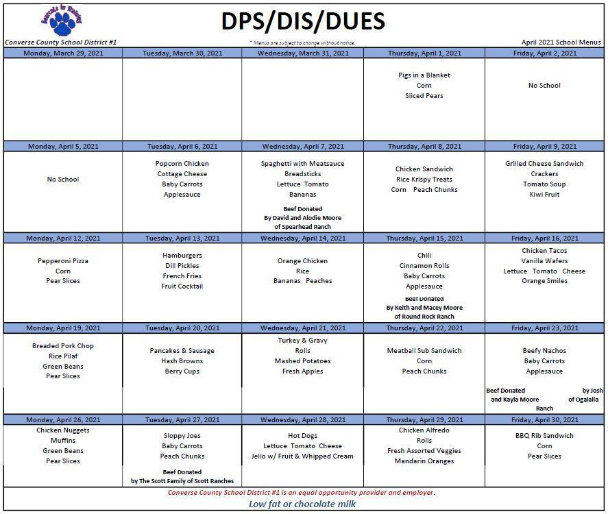 2021 April DPS DIS DUES