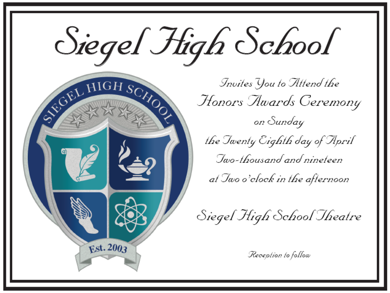 You're Invited to the Honors Awards Ceremony! Thumbnail Image