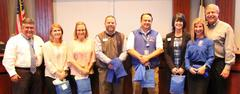 The WSISD principals were recognized during the Oct. 17 school board meeting as part of Principal Appreciation Month with t-shirts that said,