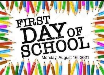 SCHOOL STARTS 8/16/2021 Featured Photo