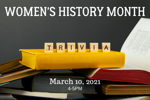 Women's History Month small wooden tiles TRIVIA
