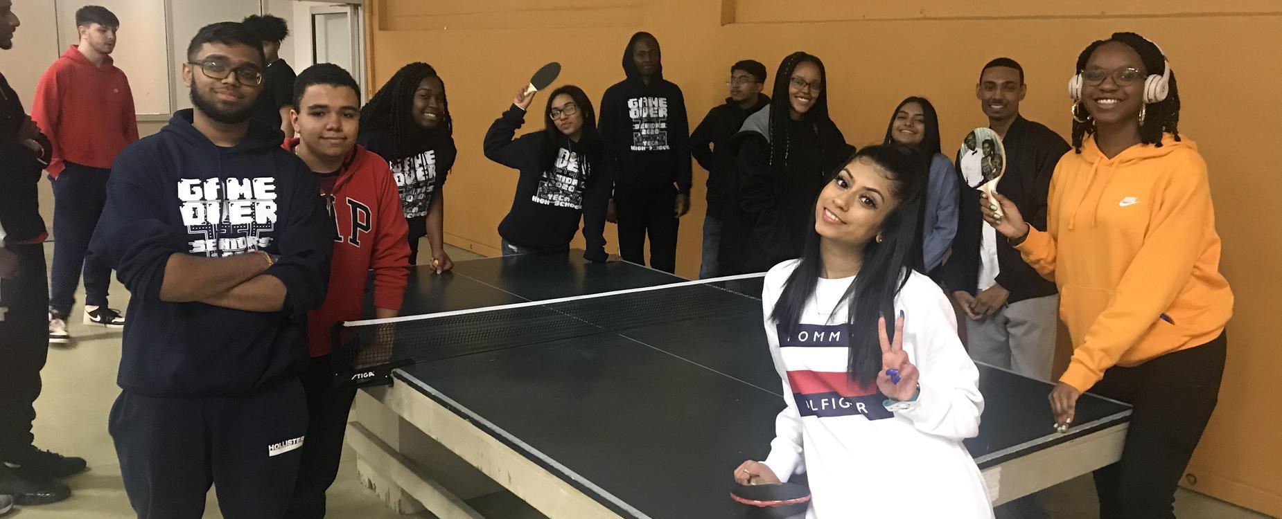 2020 Yeca Seniors playing Ping Pong