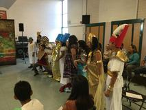 Webber students dress and act as famous ancient people and mythical characters.