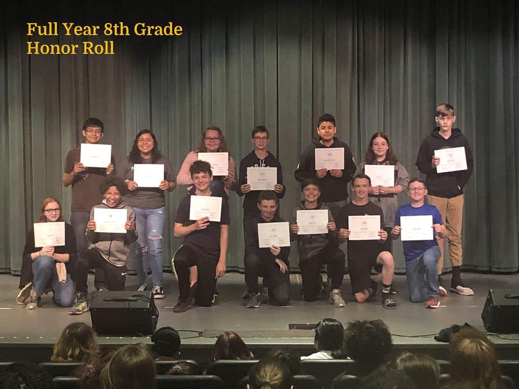 FY 8th Grade Honor Roll