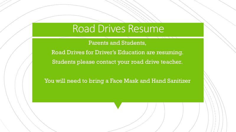 Road Drives Resume