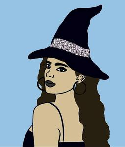 Witch digital drawing