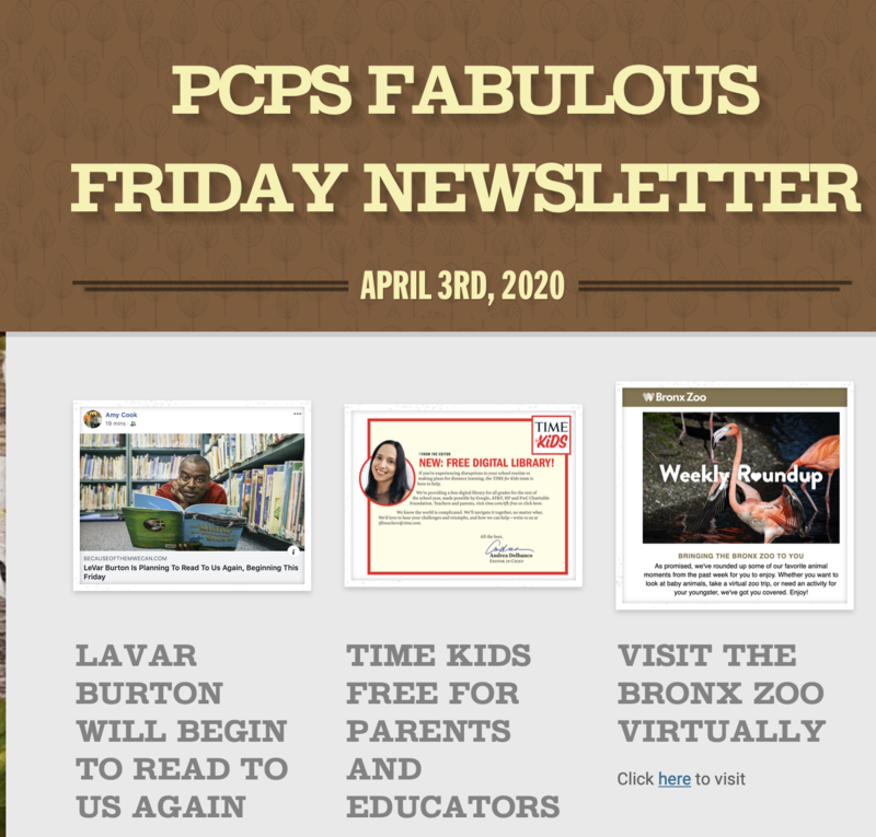 FABULOUS FRIDAY NEWSLETTER
