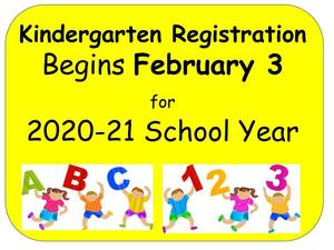 Kindergarten Registration Begins February 3