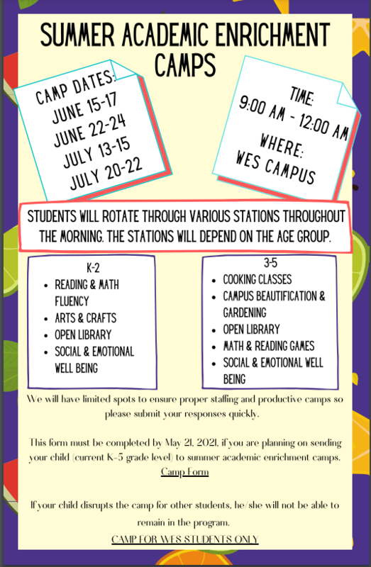 Summer Academic Enrichment Camps (Elementary) Featured Photo