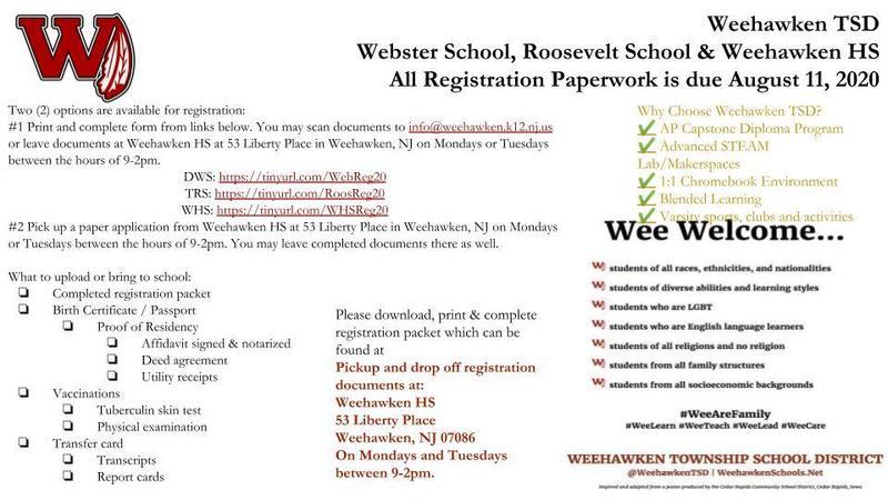 2020-2021 School Year Registration