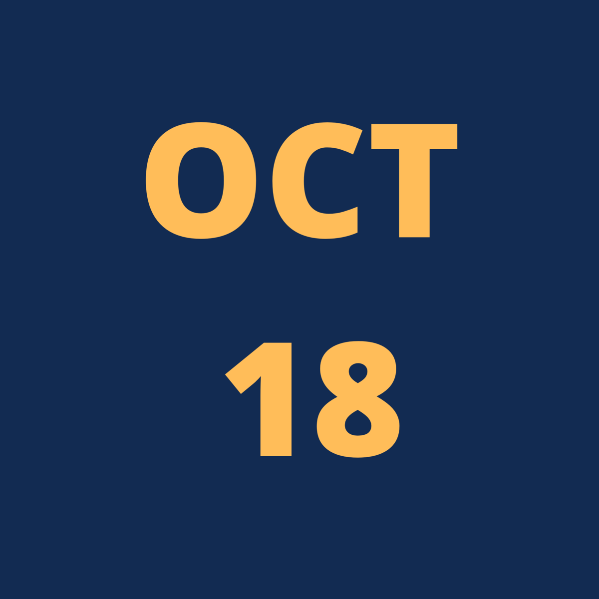 Oct 18 Icon