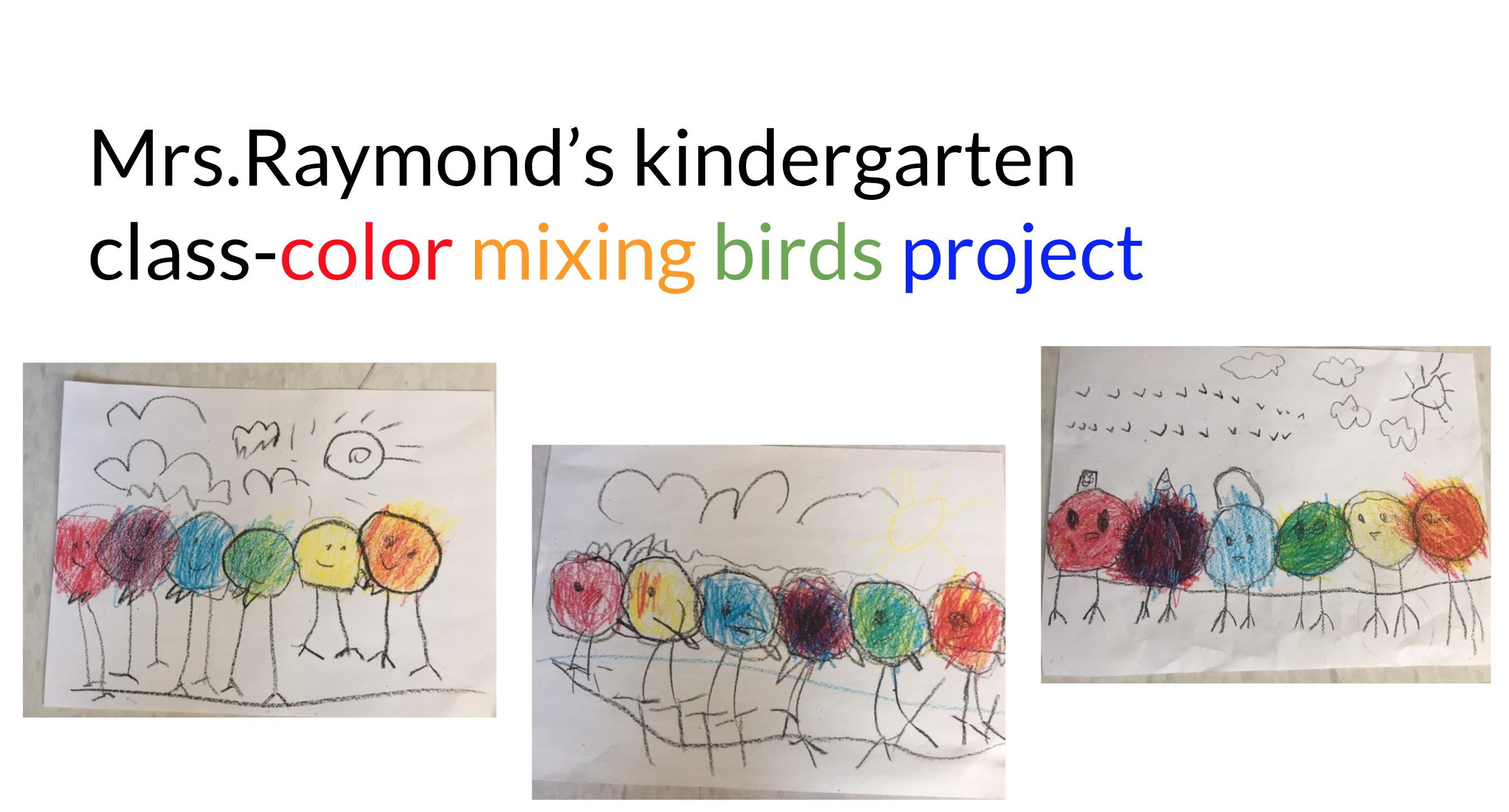 Artwork by kindergarten students at Eastford Road School