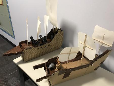 Student made Galilean ships