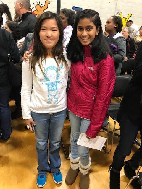 Former students, Sharvari Vywahare and Layne Eledge