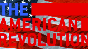 American Flag with text,