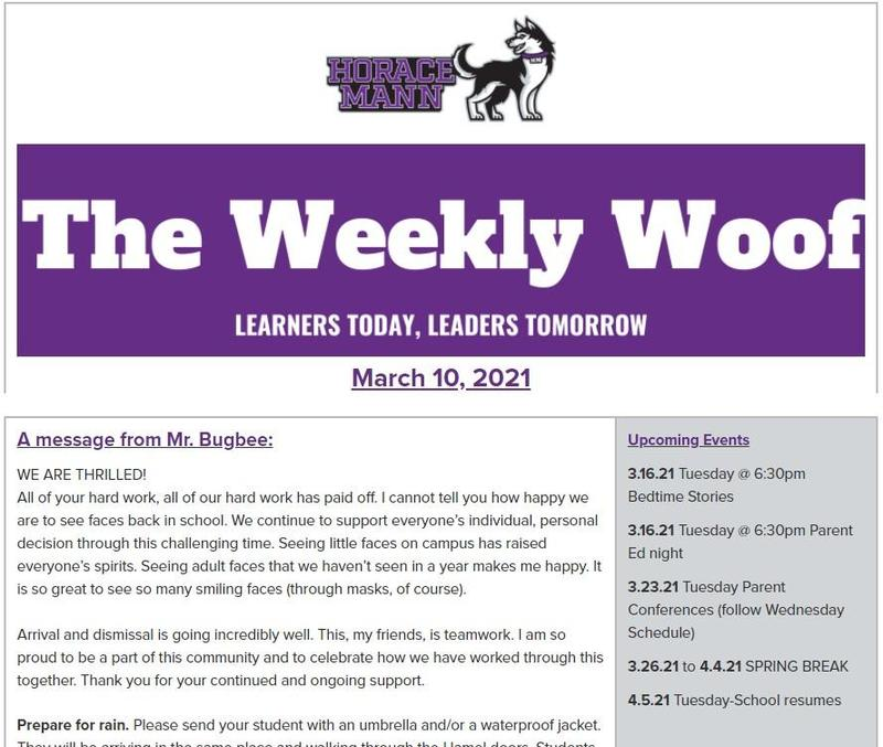 The Weekly Woof Newsletter for March 10, 2021 Featured Photo