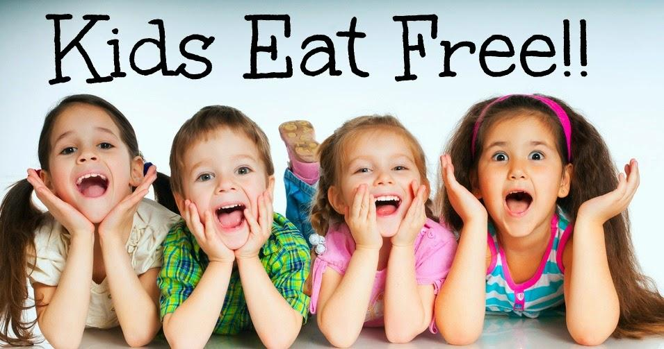 "Smiling Children with Words ""Kids Eat for Free"" above them"