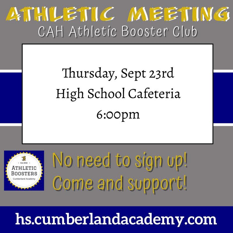 CAH Athletic Booster Club Meeting Featured Photo