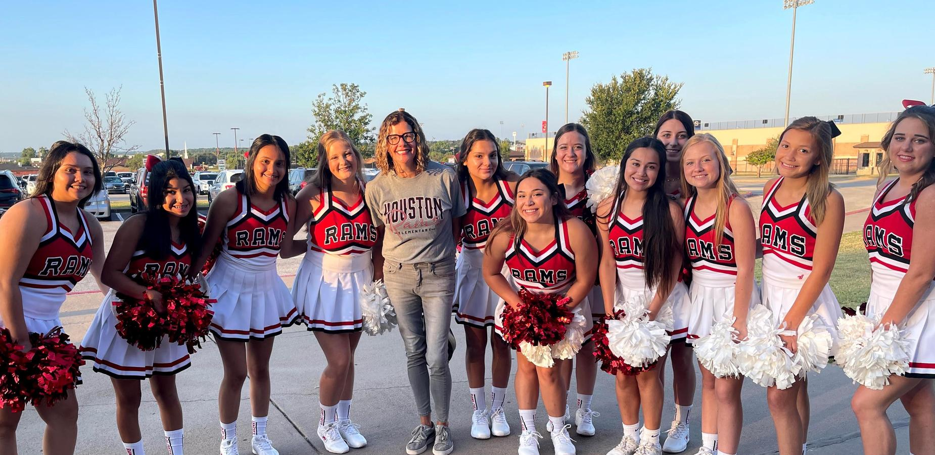 cheer with teachers