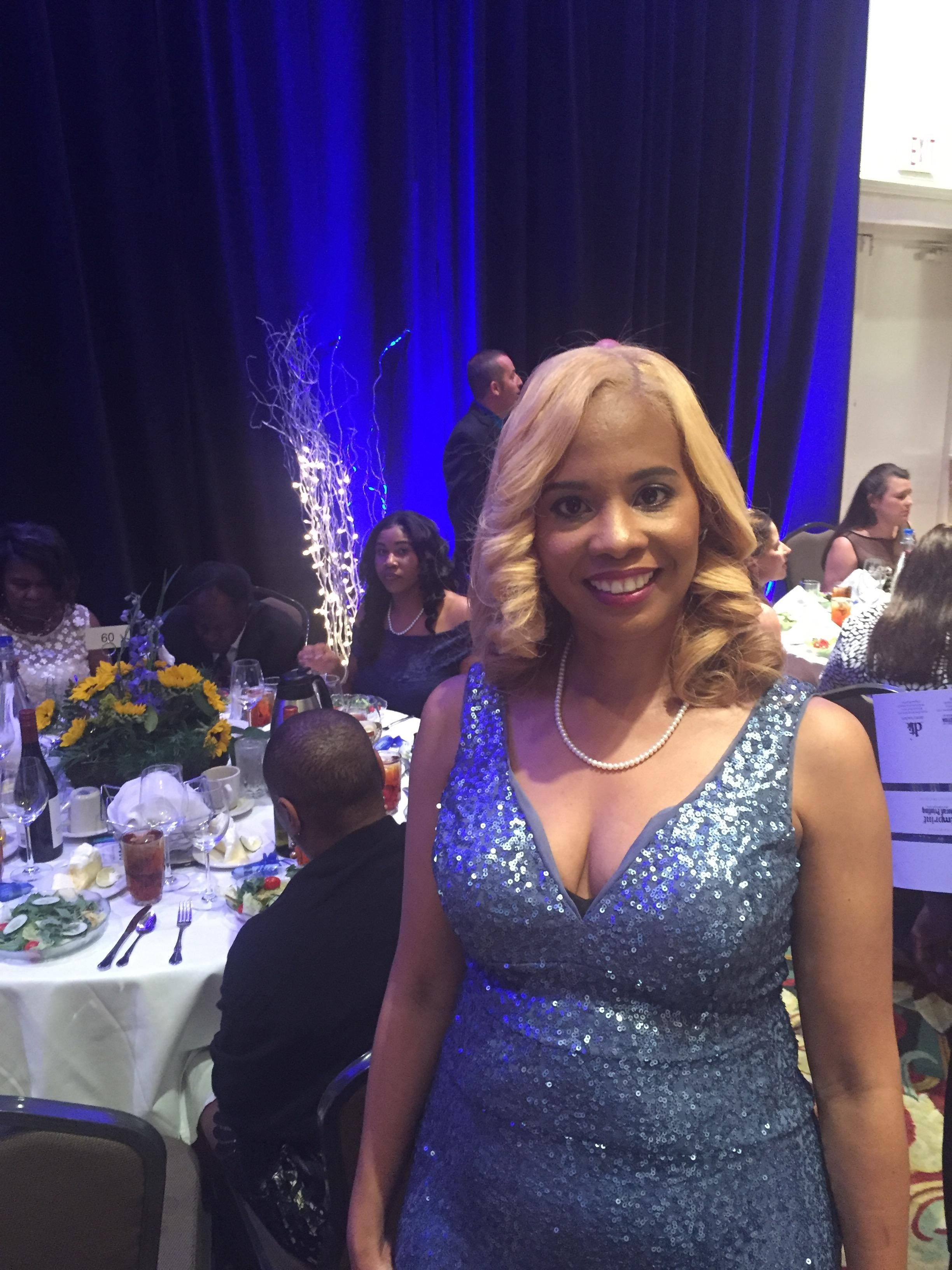 Photo of Principal Penn at the state sponsored gala honoring educators from across the state