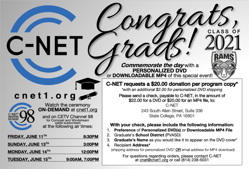 C-Net Graduation Coverage and DVD Order Form