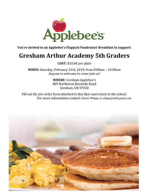 Applebee's 5th Grade Fundraiser Thumbnail Image