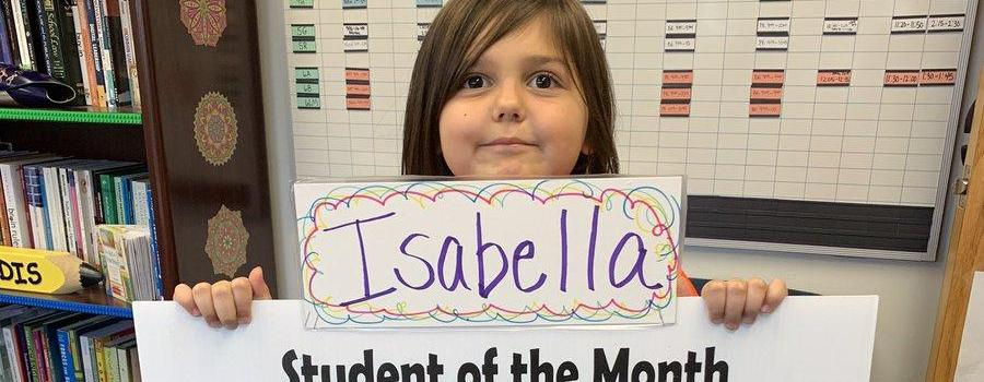 Student of the month - Isabella