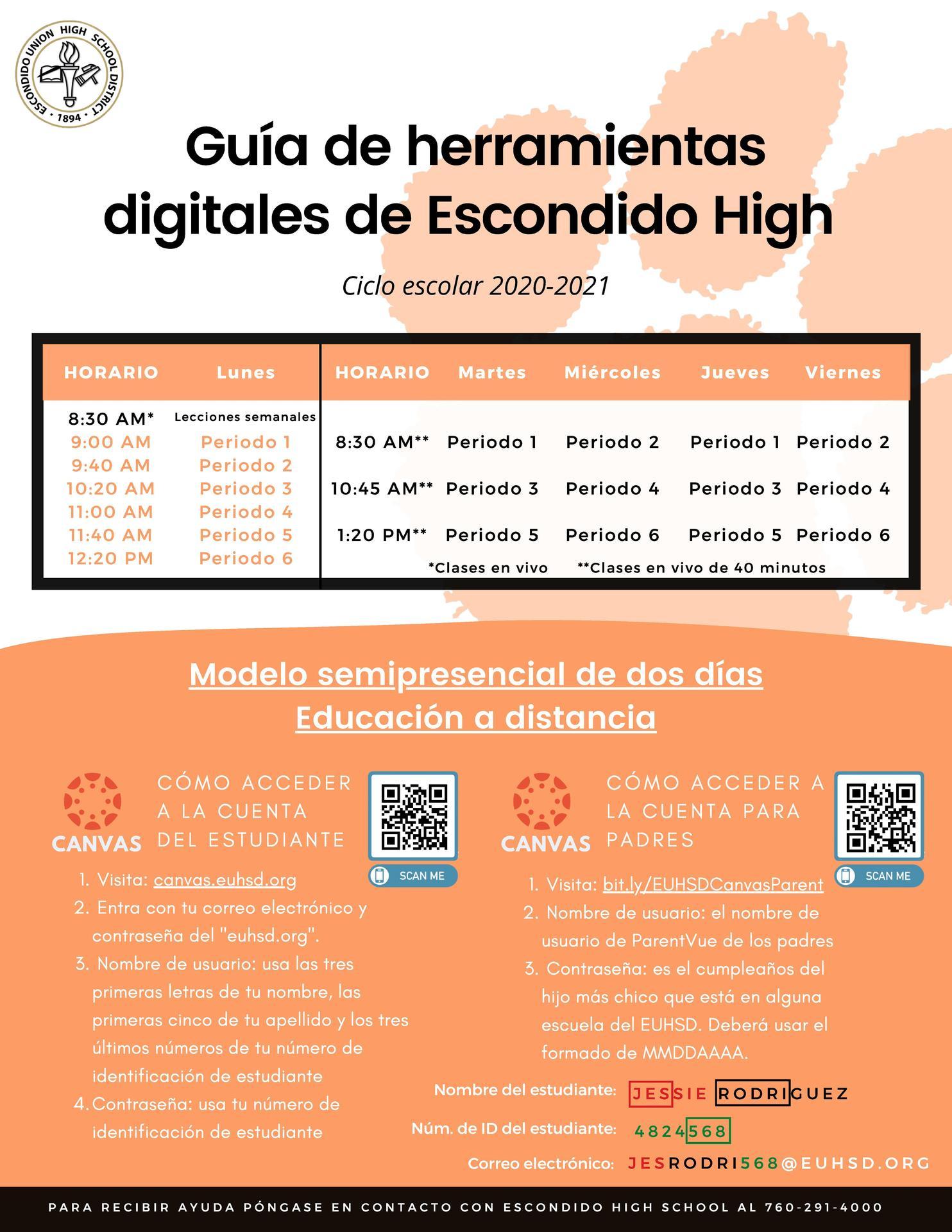 log in info spanish 1