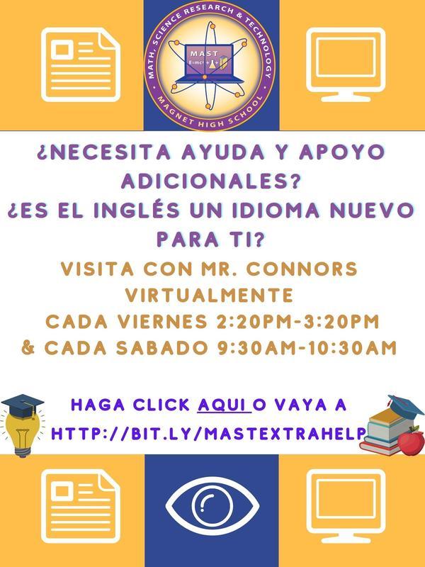 ELL support flyer written in Spanish