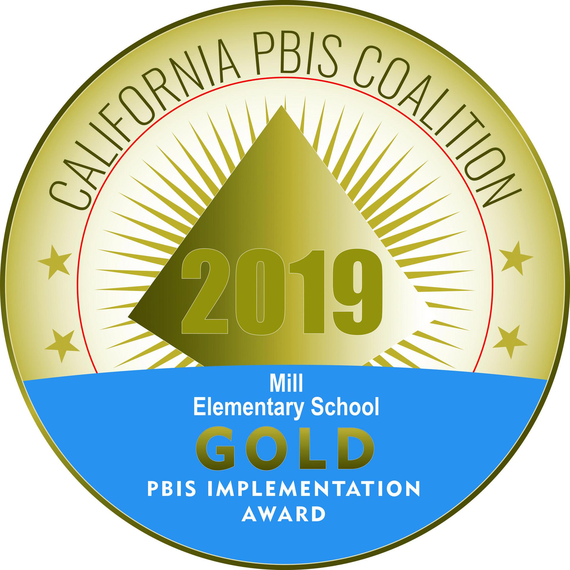 2019 PBIS Gold Award Logo