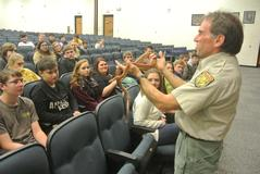 DNR presentation of snakes to BUHS students