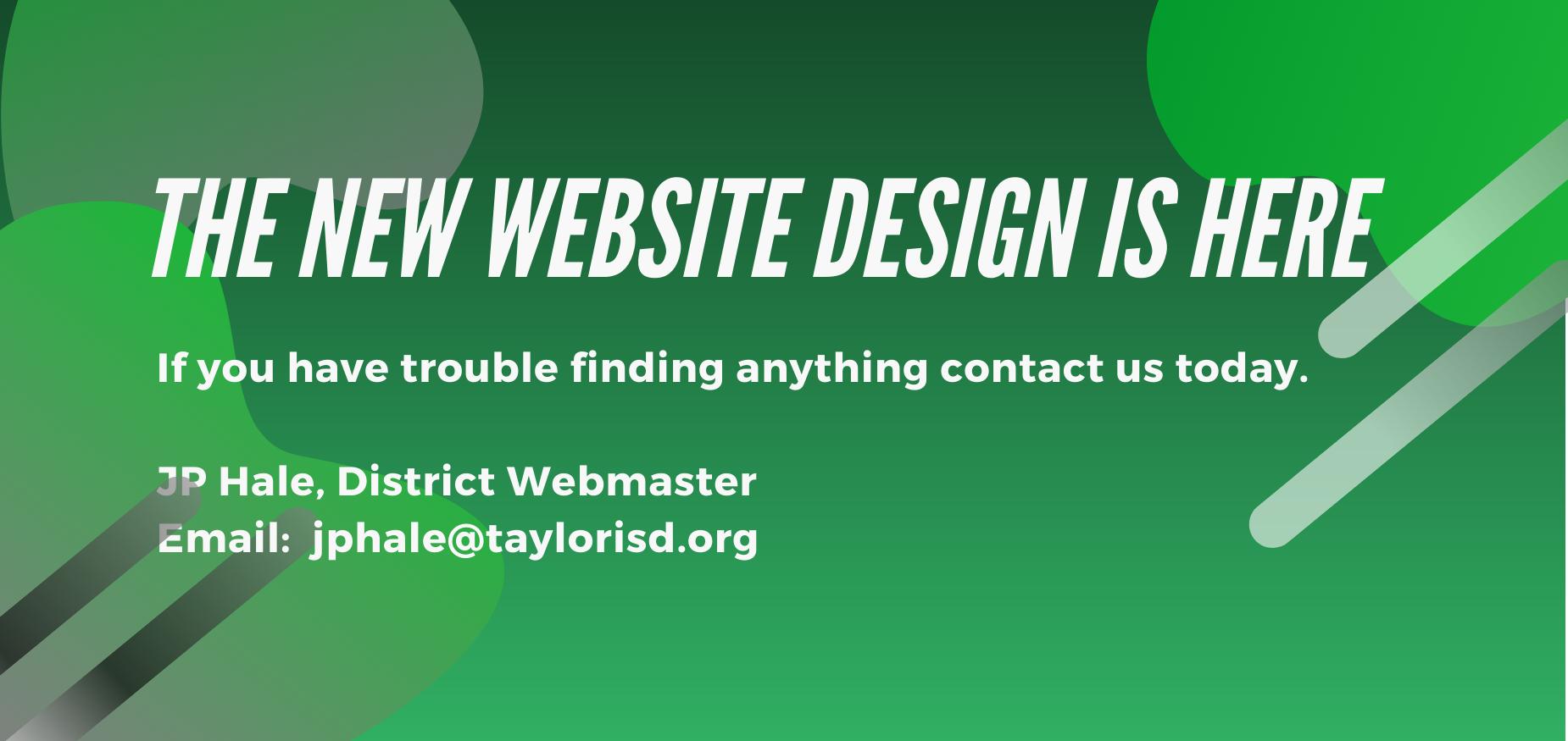 new web design