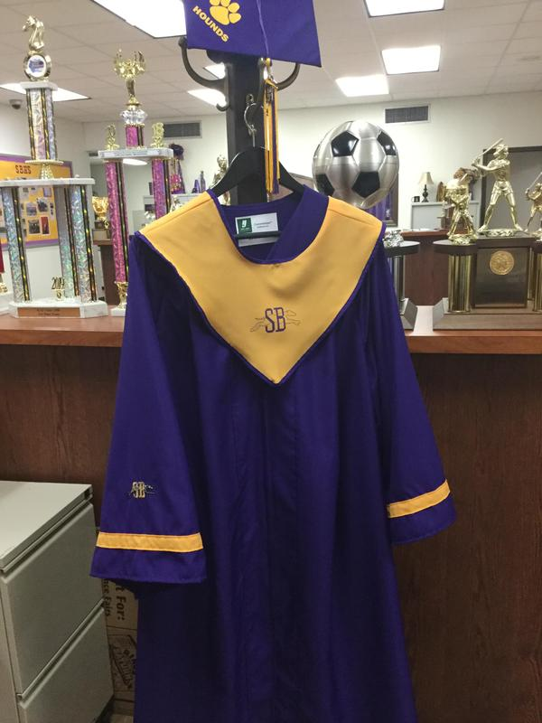 New cap and gown