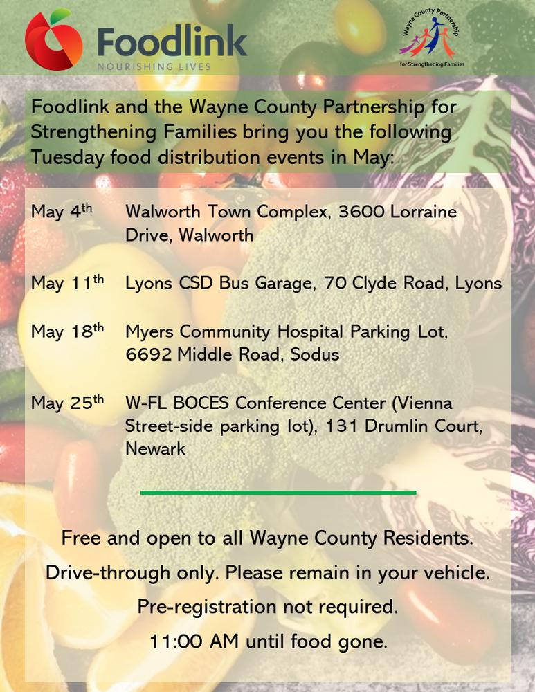 Wayne County Food Distribution for May
