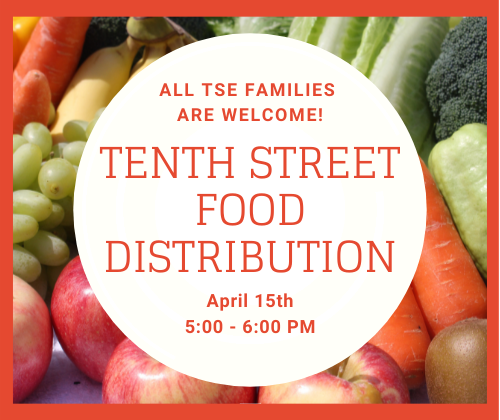 food distribution april 15 from 5 to 6