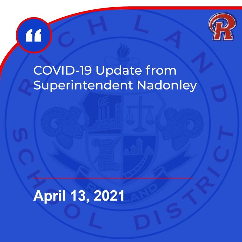 Richland Elementary School COVID update - 4/13/21 Featured Photo