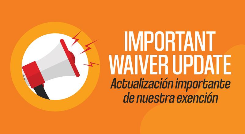 Important Waiver Update Logo