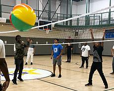 Week One recreation activity: vollyball