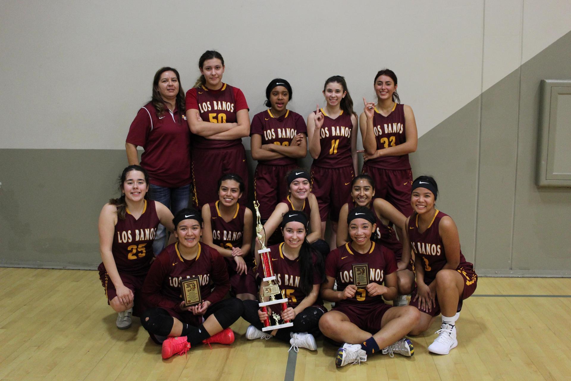 Los Banos Girl's Basketball -- Varsity Champions